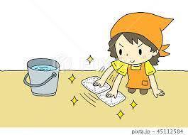 主婦 床掃除 フローリング 雑巾がけの写真素材 - PIXTA