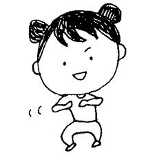 ダンスをする女の子のフリーイラスト   フリーイラスト・クラシック