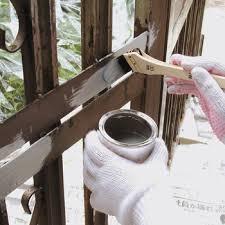 上塗りが綺麗に仕上がる鉄部用さび止塗料「油性つや消しさび止ペイント ...