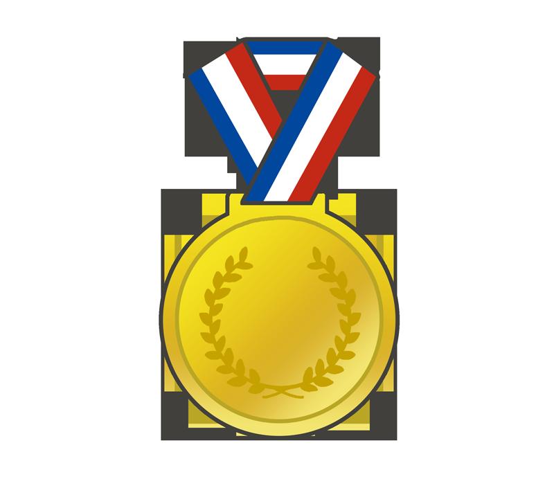金メダルのイラスト - イラストの里