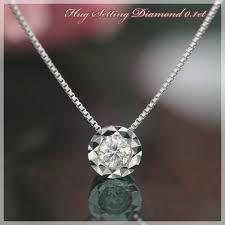 楽天市場 【】4月誕生石ネックレス K18ホワイトゴールド ダイヤモンド ...