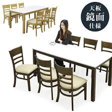 楽天市場】ダイニングテーブルセット 6人掛け 白 ダイニングテーブル ...