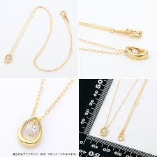 ダイヤモンド ネックレス シンプル バースデーコレクション イエロー ...