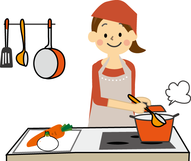 料理のイラスト(無料イラスト)フリー素材