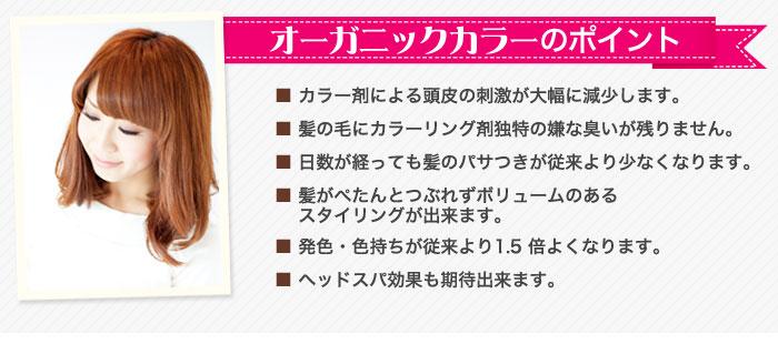 オーガニックカラー紹介:鎌取(おゆみ野)の美容室:美容院ヘアーゼロ