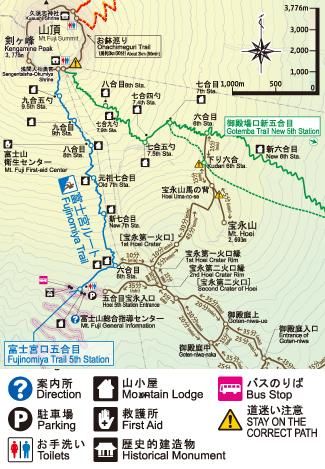 位置と特徴 富士宮ルート 富士登山オフィシャルサイト