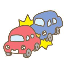 追突事故のイラスト | かわいいフリー素材が無料のイラストレイン
