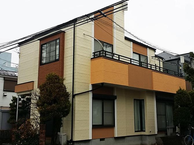 塗料2種類3色で塗り分けをした外壁塗装リフォーム(埼玉県草加市H様邸 ...