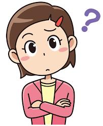 腕組みして考える小学生の女の子(無料イラスト素材) - イラスト素材図鑑