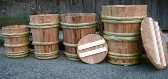 四種類の味噌樽(みそたる) (酒樽屋日誌)