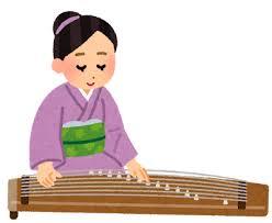 琴を演奏している人のイラスト   かわいいフリー素材集 いらすとやの画像
